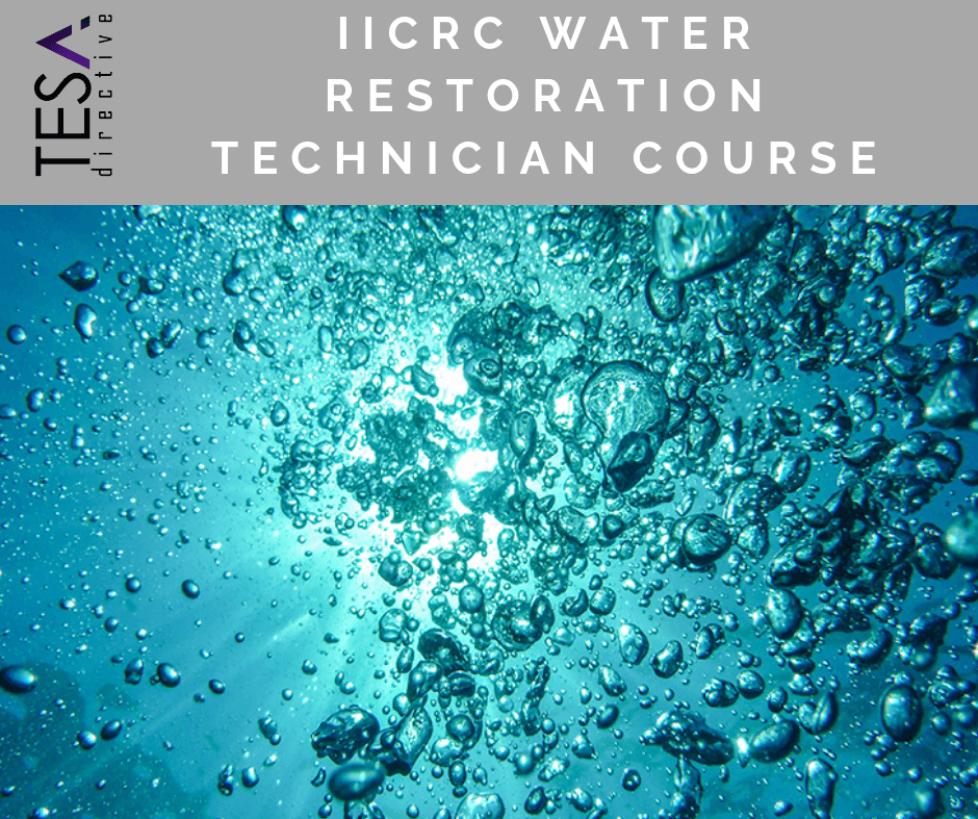 IICRC Water Restoration Technician Course
